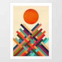 sun Art Prints featuring Sun Shrine by Picomodi