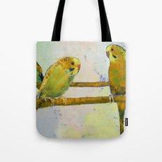 Three Parakeets Tote Bag