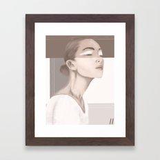 Beige Framed Art Print
