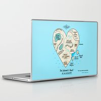 map Laptop & iPad Skins featuring A Map of the Introvert's Heart by gemma correll