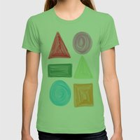 Shapes Womens Fitted Tee Grass SMALL