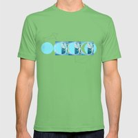 NEW MOON Mens Fitted Tee Grass SMALL