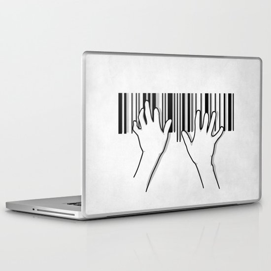 Barcode pianist Laptop & iPad Skin