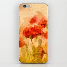 Fiery Poppies In A Golde… iPhone & iPod Skin