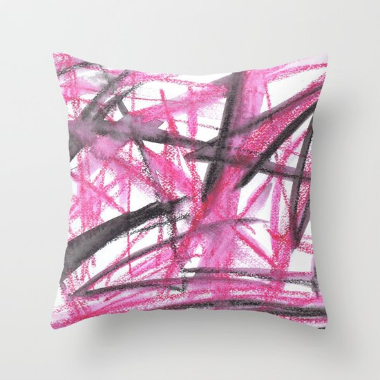 Scribble Throw Pillow