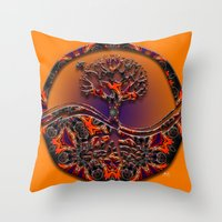 Tree Of Designs Throw Pillow