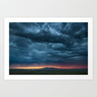 Salt Lake Sky Art Print
