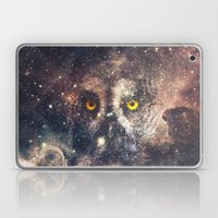 Purple Galaxy Nebula Stars Blue Space Hipster Owl Laptop & iPad Skin