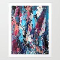 Blue Moon Abstract Art Print
