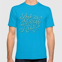 Look At This Stuff Mens Fitted Tee Teal SMALL