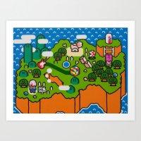 Super Grass Land Art Print