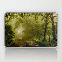 Misty Woodland Lane Laptop & iPad Skin