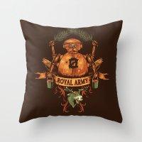 Royal Army Throw Pillow