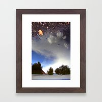 Starry Earth Framed Art Print