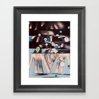 Falling Like Tears Framed Art Print