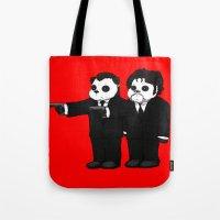 Panda Fiction! Tote Bag