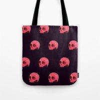 Pink Skull Pattern Tote Bag