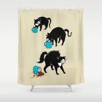 Coffee Cat Shower Curtain