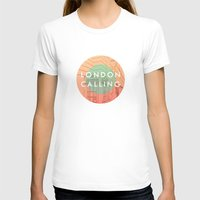 Songs and Cities: London Calling Womens Fitted Tee White SMALL