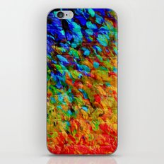 COLLISION COURSE - Bold Rainbow Splash Bricks Urban Jungle Ocean Waves Nature City Acrylic Painting iPhone & iPod Skin