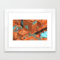 Murdertown - Soda Row Framed Art Print