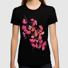 O Ginkgo Womens Fitted Tee Black SMALL