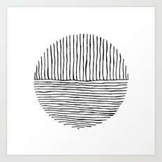Circle : Vertical / Horizontal Art Print