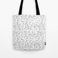 Speckles I: Double Black on White Tote Bag