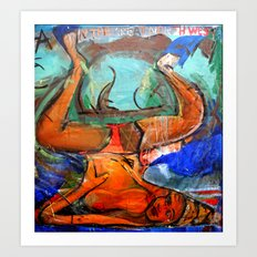 Yoga in the Great Northwest Art Print