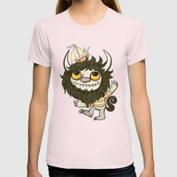 An Ode To Wild Things Womens Fitted Tee Light Pink SMALL