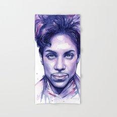 Prince Purple Watercolor Rain Hand & Bath Towel