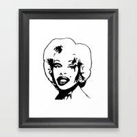 Amanda Lepore. Framed Art Print