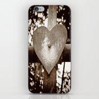 Rusty heart iPhone & iPod Skin