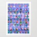 Triangle print Art Print