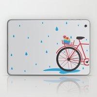 Bicycle & Rain Laptop & iPad Skin