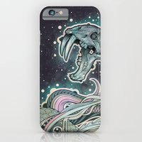 iPhone & iPod Case featuring Saber-toothed Serpent in Space. by Mat Miller