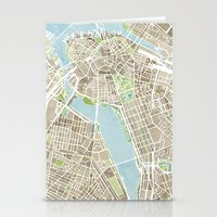 Boston Sepia Watercolor … Stationery Cards