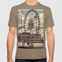 The Brighton Wheel Mens Fitted Tee Tri-Coffee SMALL