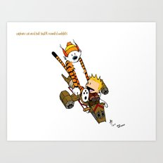 Captain Cal and a Tiger named Hobbes Art Print
