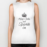 Keep Calm and Sparkle On Biker Tank