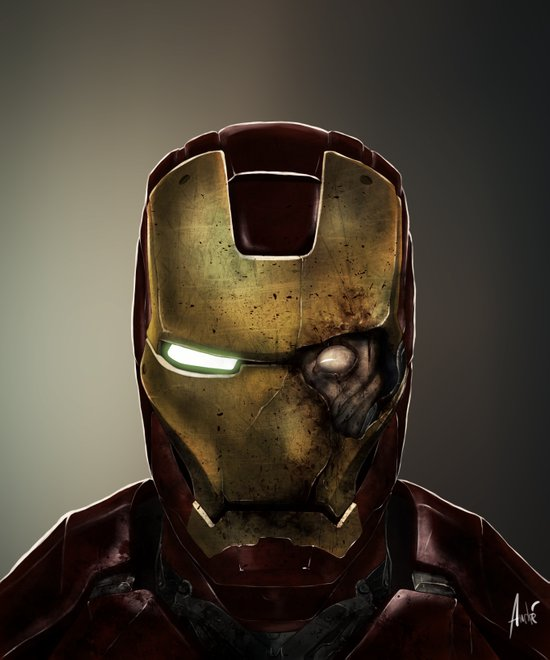 Zombie Iron Man Art Print