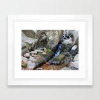 Upper Maxwell Falls in Autumn Framed Art Print