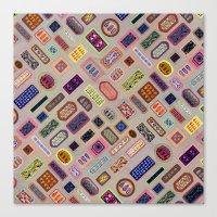 Multi Color Melody Light Canvas Print