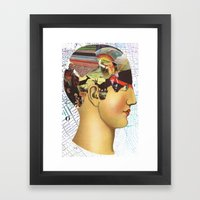 Mind Map Framed Art Print