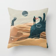 The Wanderer And The Des… Throw Pillow