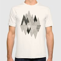 Lost in Mountains Mens Fitted Tee Natural SMALL