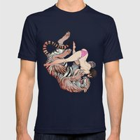 Tigerstyle Mens Fitted Tee Navy SMALL