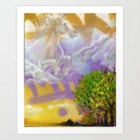 Sky Horse Art Print