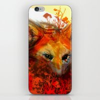 Fox In Sunset III iPhone & iPod Skin