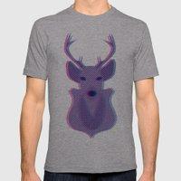Deer Head Mens Fitted Tee Athletic Grey SMALL
